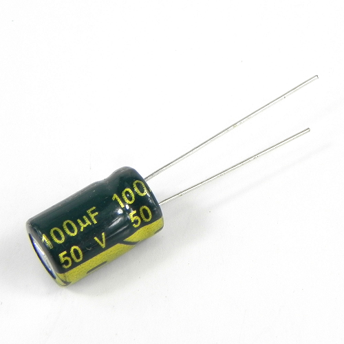100uF 50V 8x12mm Electrolytic Radial High Frequency Capacitor LOW ESR