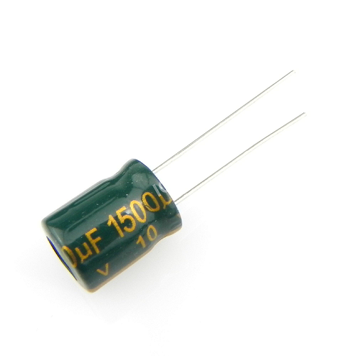 1500uF 10V 10x13mm Electrolytic Radial High Frequency Capacitor LOW ESR