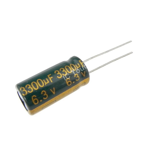 3300uF 6.3V 10x20mm Electrolytic Radial High Frequency Capacitor LOW ESR