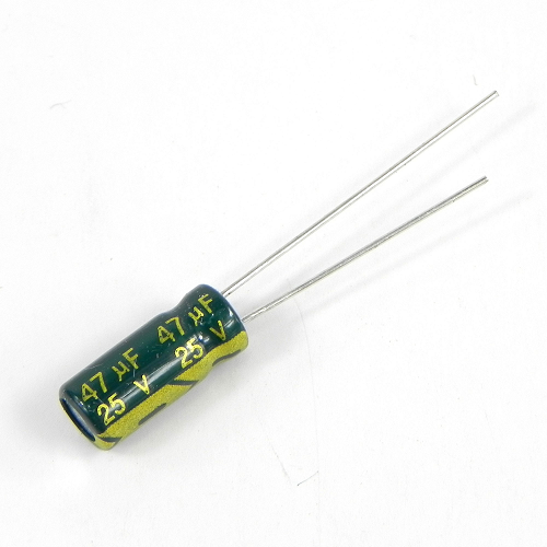 47uF 25V 5x11mm Electrolytic Radial High Frequency Capacitor LOW ESR