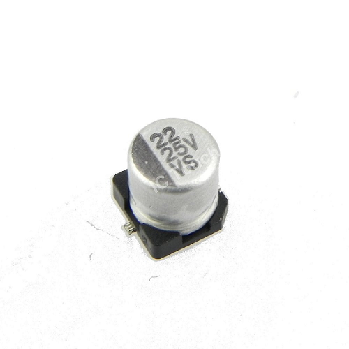 22uF 25V 5x5mm SMD Aluminum Electrolytic Capacitors