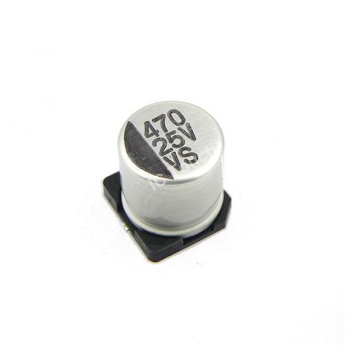 470uF 25V 10x10mm SMD Aluminum Electrolytic Capacitors
