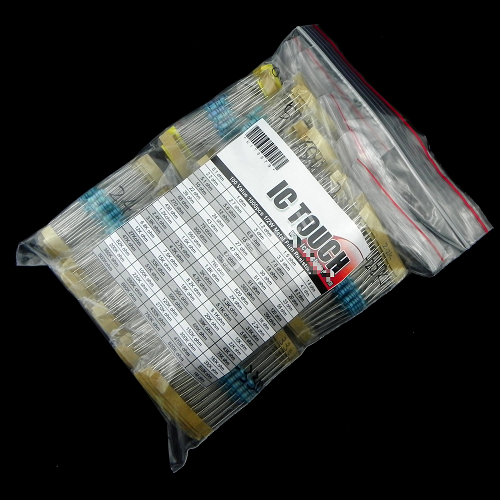100value 1000pcs 1/2W Metal Film Resistor Assortment Kit KIT0079