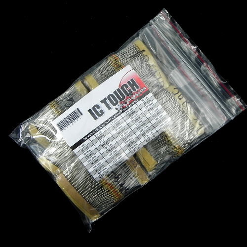 50value 1000pcs 1/4W Carbon Film Resistor +/-5% Assortment Kit KIT0093