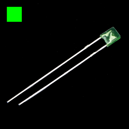 2x3x4mm Green Rectangle Diffused Green LED Light Lamp