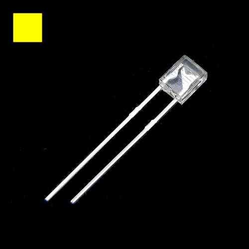 2x3x4mm Yellow Rectangle Waterclean Yellow LED Light Lamp
