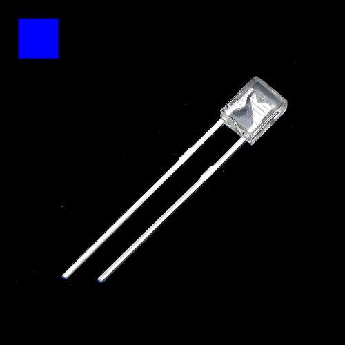 2x3x4mm Blue Rectangle Waterclean Blue LED Light Lamp