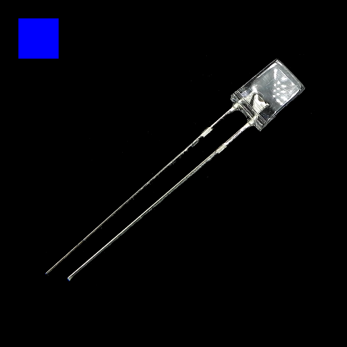 2x5x7mm Blue Rectangle Waterclean Blue LED Light Lamp
